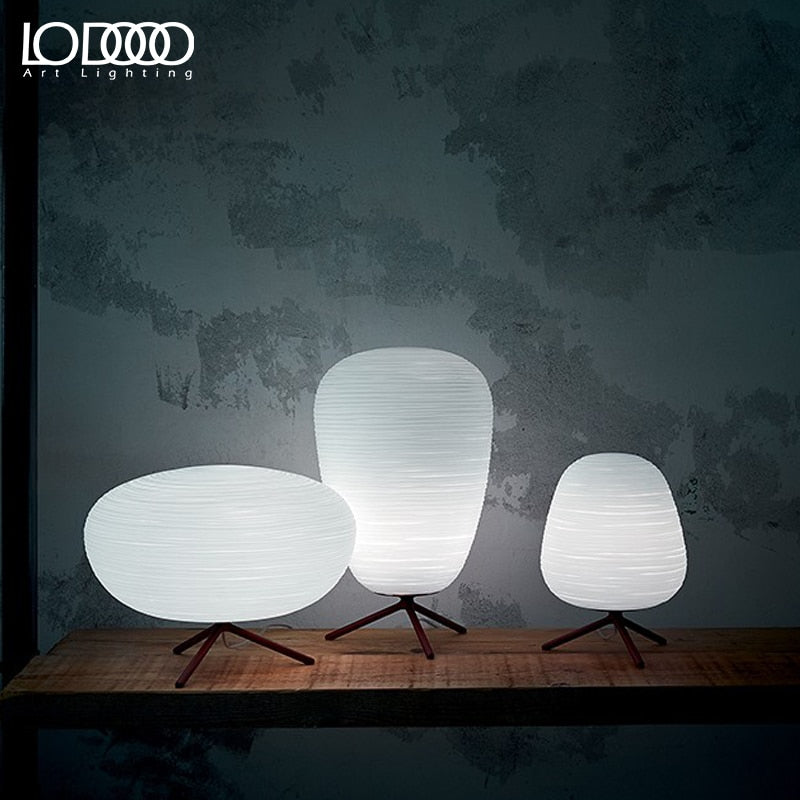 Lodooo E27 Modern Table Lamp For Living Room Contemporary Desk Lamp Bedside Lamp Led Decorative Glass Table Lamp Boutique Le Pingouin