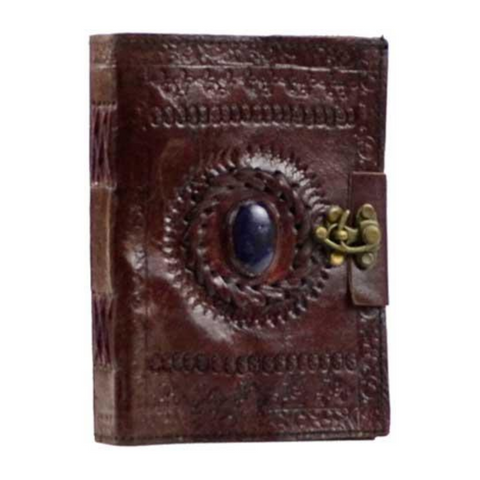 Stone Eye Leather Journal Book with Latch 5x7 Inch