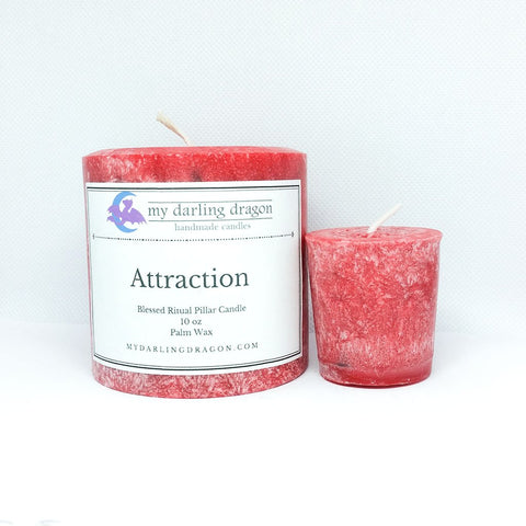 Attraction Ritual Spell Candle for Witchcraft and Wicca