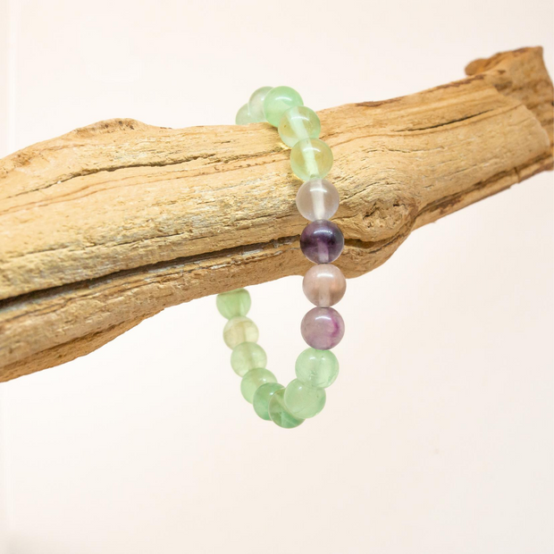 Flourite 8mm Stretch Bracelet