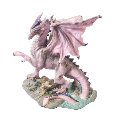 """Longwei"" Purple Dragon Statue"