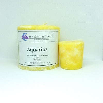 Aquarius Scented Zodiac Candle