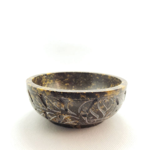 Engaved Soapstone Smudging or Offering Bowl