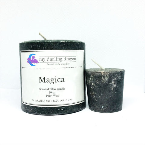 Magica Scented Pillar Candle for Meditation
