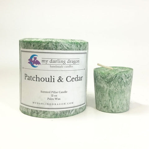 Patchouli and Cedarwood Scented Candle