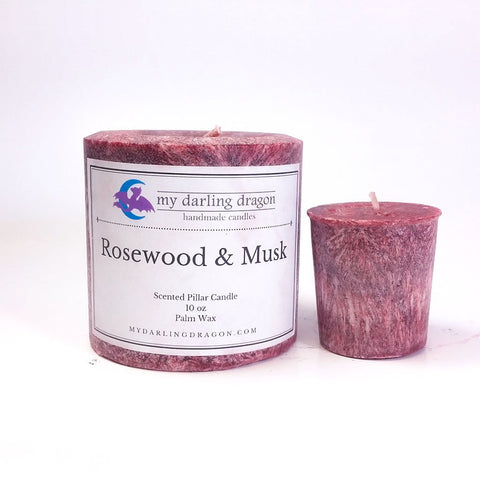 Rosewood and Musk Scented Candle