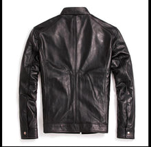 Load image into Gallery viewer, Genuine Leather Motorcycle Jackets For Men Black Brown Sheepskin Coats Custom Sizing