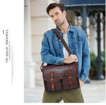 Load image into Gallery viewer, Genuine Leather CrossBody Bag For Men Messenger Bags Business Handbags Travel Laptop Carrier
