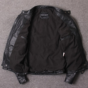 Genuine Leather Motorcycle Jacket For Men Black Superb Quality Cow Leather Coats