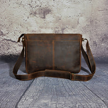 Load image into Gallery viewer, Crazy Horse Distressed Genuine Leather Cross Body Messenger Bag Men Casual Travel Luggage