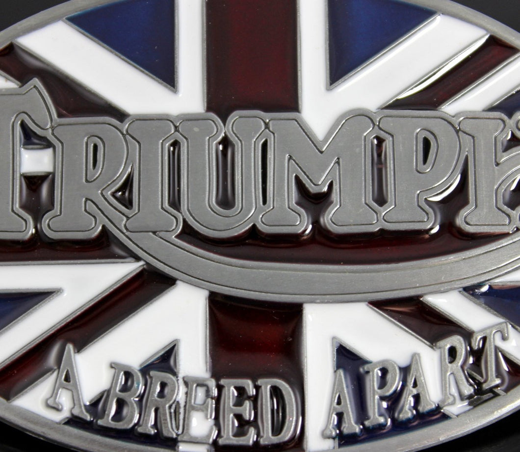 Belt Buckle Mens Triumph Motorcycles Men Large Silver Metal Buckles Bristish Underground London Belts Mens Gift for Him