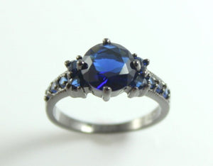 Black Ring Women Wedding Engagement Anniversary Promise Rings Gothic Steampunk Unique Jewelry