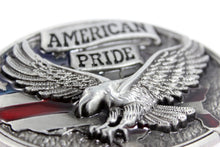 Load image into Gallery viewer, Belt Buckle USA American Flag Pride Medium Large Silver Eagle Buckles Cowboy Western High Quality Mens Accessories Gift for Him