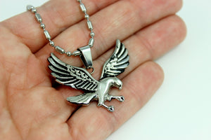 Eagle Necklace Stainless Steel Chain Men Bird Pendant High Qaulity MensBiker Jewelry Gift