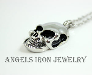Skull Necklace Stainless Steel Pendant Chain Men Women Unisex Large Skulls High Qaulity Biker Jewelry