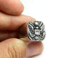 Load image into Gallery viewer, U.S. Marines Stainless Steel Rings Eagle Rings High Quality Statement Biker Jewelry Armed Forces Gift for Him