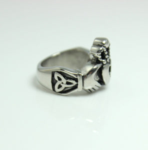 Claddagh Ring Stainless Steel Heart Crown Hands Symbolic Irish Celtic Rings Wedding Engagement Promise Unique Jewelry Unique Gift for Him