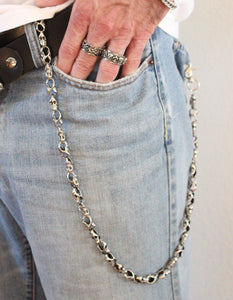 Jean Chain Men Silver Skull Biker Steampunk Gothic Hipster Punk Skulls Mens Accessories High Quality Gifft for him