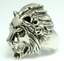 Load image into Gallery viewer, Lion Ring Men Stainless Steel Rings High Quality Lions Head Biker Gothic Biker Rings Jewelry Gift for Him