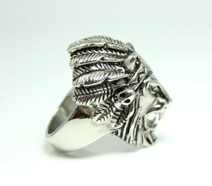 Lion Ring Men Stainless Steel Rings High Quality Lions Head Biker Gothic Biker Rings Jewelry Gift for Him