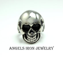 Load image into Gallery viewer, Black Skull Ring Stainless Steel Men Women Unisex Large Skulls High Quality Biker Gothic Punk Scary Halloween Unique Jewelry