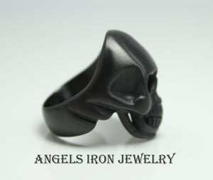 Black Skull Ring Stainless Steel Men Women Unisex Large Skulls High Quality Biker Gothic Punk Scary Halloween Unique Jewelry