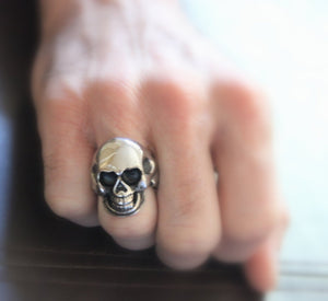 Skull Ring Stainless Steel Men Women Unisex Large Skulls High Qaulity Biker Gothic Scary Halloween Unique Jewelry