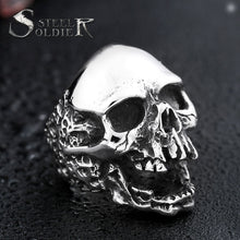 Load image into Gallery viewer, Skull ring stainless steel men Women