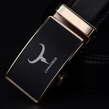 Load image into Gallery viewer, COWATHER Newest fashion mens belt top cow genuine leather automatic buckle