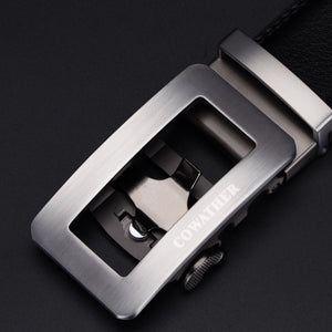 COWATHER Newest fashion mens belt top cow genuine leather automatic buckle