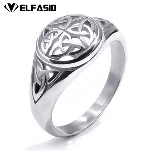 Celtic Ring Women Stainless Steel Irish Rings Silver Gold Jewelry Men Unisex Size 5-10