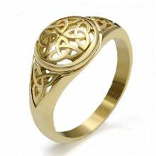 Load image into Gallery viewer, Celtic Ring Women Stainless Steel Irish Rings Silver Gold Jewelry Men Unisex Size 5-10