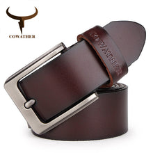 Load image into Gallery viewer, COWATHER men belt cow genuine leather designer belts for men