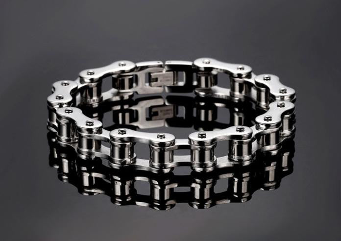 Men Jewelry Bike Chain Stainless Steel Bracelet 8.5inch