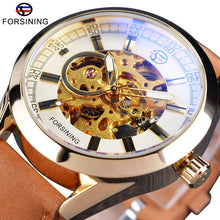 Load image into Gallery viewer, Forsining Mens Casual Sport Watch Genuine Leather Army Military Automatic