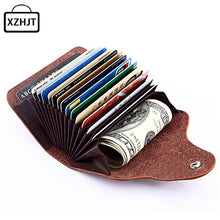 Load image into Gallery viewer, Fashion Genuine Leather Card Holder Women Men Cowhide Rfid Wallet For Credit Card Business Card Holders Organizer Bag Purse
