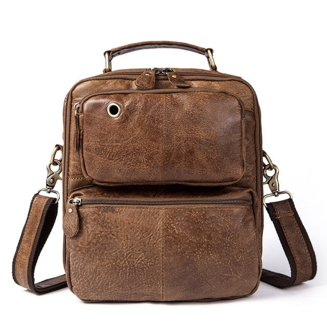 WESTAL Genuine Leather Men Messenger Bags Male Shoulder Crossbody Bags Handbag Headphone Jack Men Bag Handbags Vintage 8951