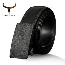 Load image into Gallery viewer, COWATHER Cow Genuine Leather Men's Belt Vintage Cowhide Belts for Men High Quality Male Strap Automatic Metal Buckle 110-130cm