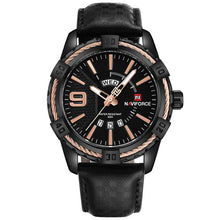 Load image into Gallery viewer, New NAVIFORCE Sport Quartz Watch Waterproof Mens Watches Genuine Leather