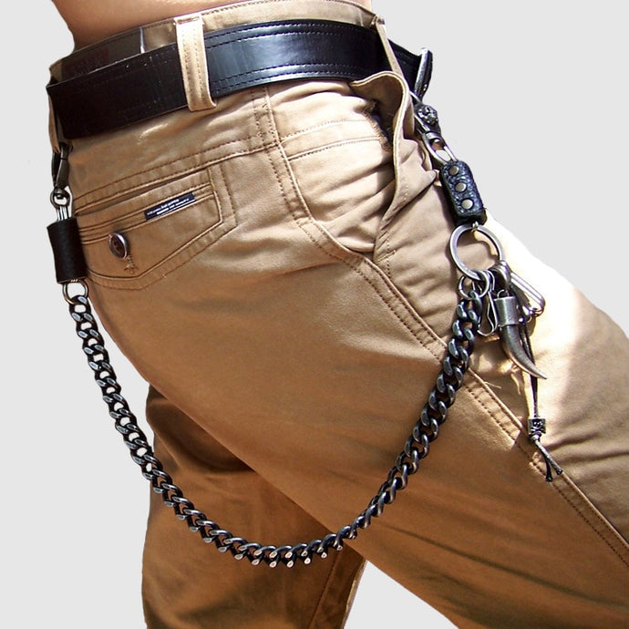 Jean chain Men Heavy Metal Punk Rocker Waist Key chains Accessories