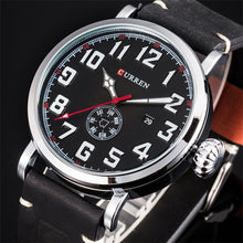 Load image into Gallery viewer, Male Clock CURREN  Genuine Leather Strap Men Quartz-Watch FashionWatches