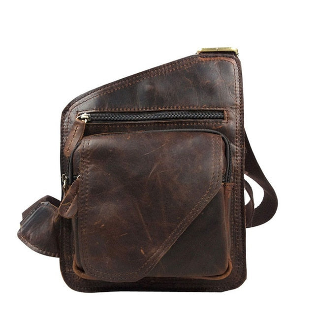 COWATHER Top cow genuine leather messenger bag versatile casual shoulder men's bags for men soild and zipper design male bag