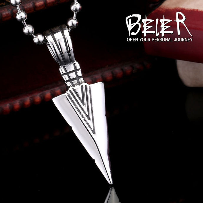 Stainless Steel Viking Spear Scandinavian Amulet Pendant Necklace Men