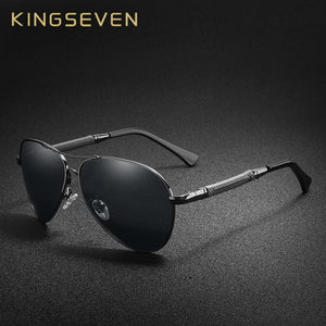 bb63a0d125272 KINGSEVEN High Quality Pilot Sunglasses Men Polarized UV400 Sun glasses  Goggle Oculos De Sol Accessories Driving Eyewear