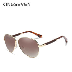 KINGSEVEN High Quality Pilot Sunglasses Men Polarized UV400 Sun glasses Goggle Oculos De Sol Accessories Driving Eyewear