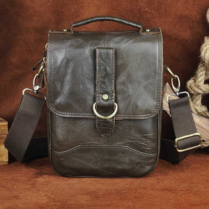 "Original Leather Male Design Casual Shoulder messenger bag cowhide Fashion 8"" Tote Crossbody Mochila Satchel bag For Men 143g"