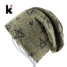 Load image into Gallery viewer, NEW Mens Star Beanies Men Soft Warm Fabric Slouchy Skullies Unisex Warm Winter Gear