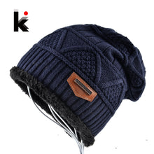 Load image into Gallery viewer, Thick Winter Beanies Men Soft Warm Fabric Slouchy Skullies Unisex Cold Weather Snow Gear