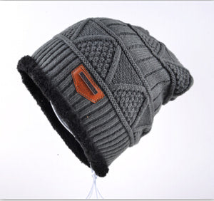 Thick Winter Beanies Men Soft Warm Fabric Slouchy Skullies Unisex Cold Weather Snow Gear
