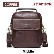 Load image into Gallery viewer, CONTACT'S Genuine Leather Shoulder Bags Fashion Men Messenger Bag Small ipad Male Tote Vintage New Crossbody Bags Men's Handbags